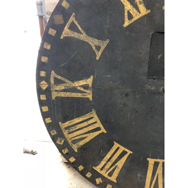 Large Antique Clock Face For Sale - Image 4 of 7