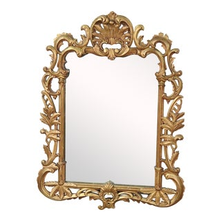 Gilded French Louis XV Wall Mirror For Sale