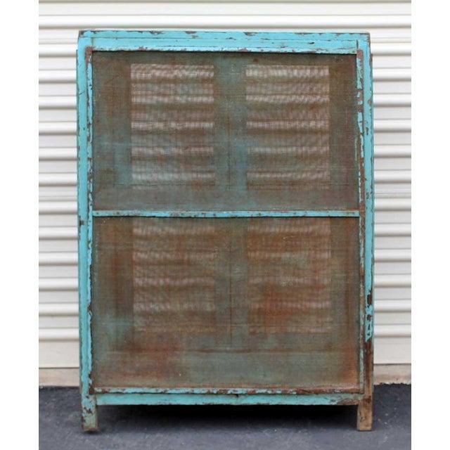 Teal Vintage Baker's Cabinet II - Image 4 of 5