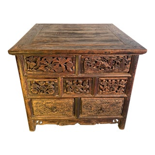 Antique Chinese Carved Table For Sale