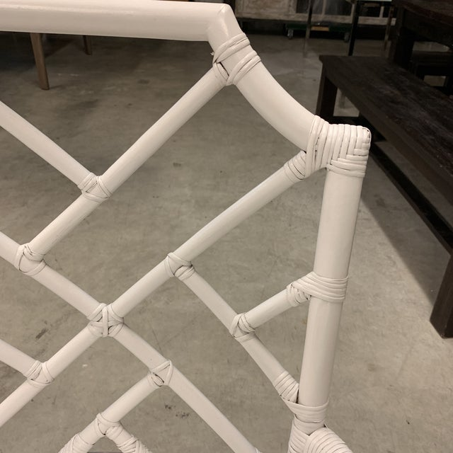 White New New Pacific Direct Kara Rattan White Arm Chairs For Sale - Image 8 of 12