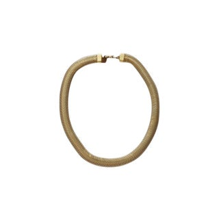 Anne Klein 90s Gold Tone Collar Necklace