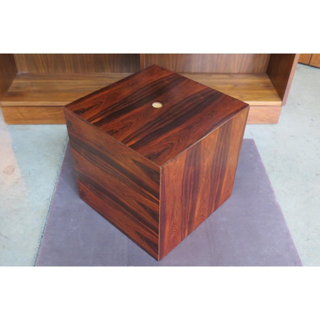 1960s Mid Century Modern Rare Rosewood Nesting Table Set For Sale - Image 11 of 11