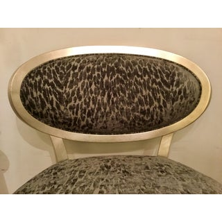 Currey & Co. Gray Cut Velvet Leopard Print Bacall Chair Preview