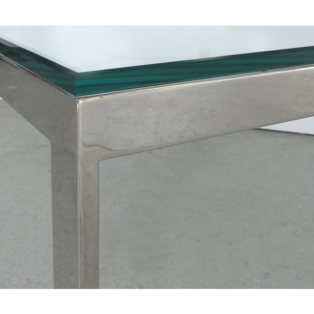 2010s Contemporary Italian Stainless Steel & Glass Cube Coffee Tables, Two Available For Sale - Image 5 of 9