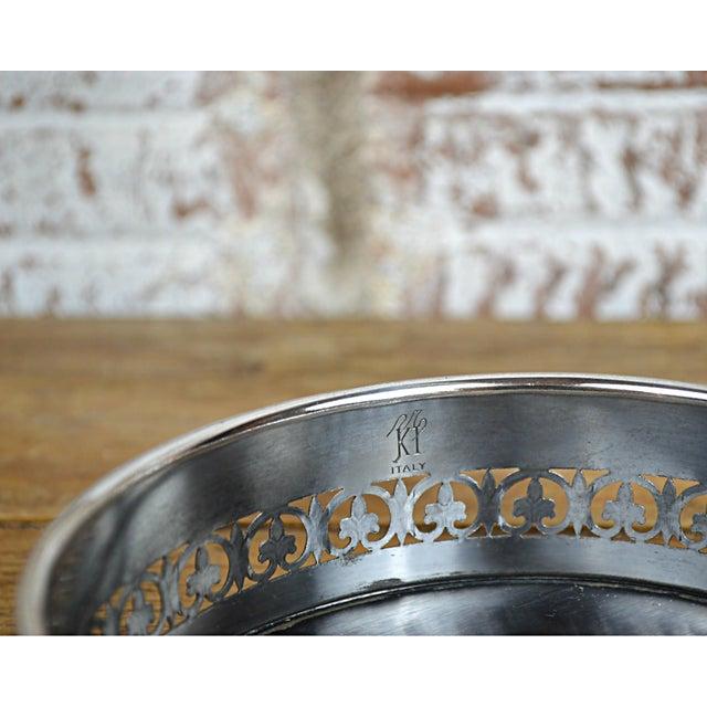 Fleur De Lys Silverplate Wine Coaster For Sale - Image 6 of 6