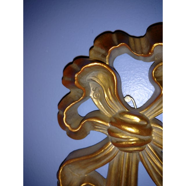 Syroco Gold Tone Wall Sconce For Sale - Image 5 of 7