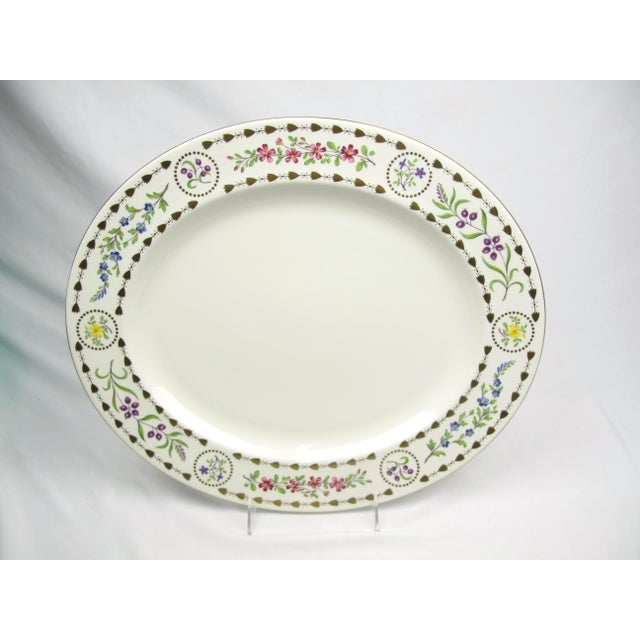 Ceramic Large Royal Worcester Trianon Serving Platter For Sale - Image 7 of 7