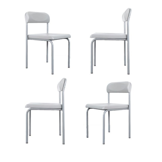 One of Seven Ettore Sottsass Greek Chairs Grey Bieffeplast, Italy, 1980 For Sale - Image 13 of 13