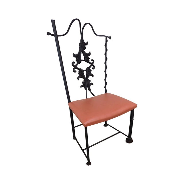 j.w. Zan Hand Forged Reclaimed Iron Chair (B) For Sale - Image 12 of 12