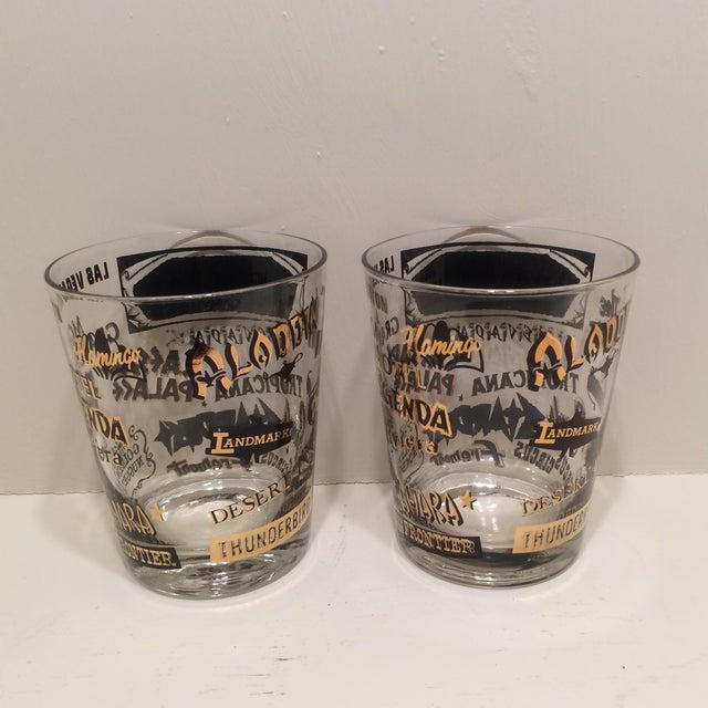 Mid Century Las Vegas Tumbler Glasses - A Pair - Image 5 of 7