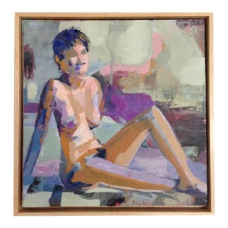 Donna Weathers Purple Pixie Mixed Media Painting