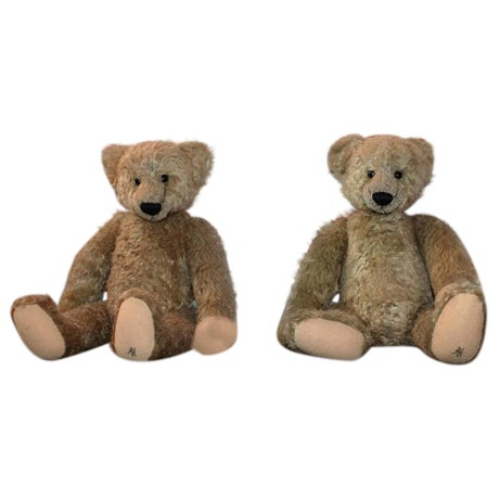 Pair of Folky Teddy Bears Made for Harrods of London - Image 1 of 8