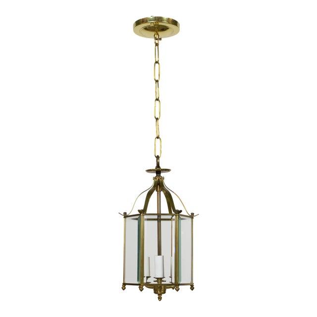 Hexagonal Beveled Glass Lantern For Sale