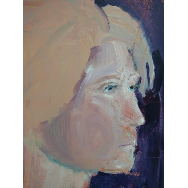 "1980s ""Stockholm Gaze"" Abstract Acrylic Portrait Painting For Sale In Sacramento - Image 6 of 8"