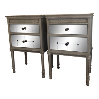 French Country Anthropologie Mirelle Nightstands - a Pair For Sale
