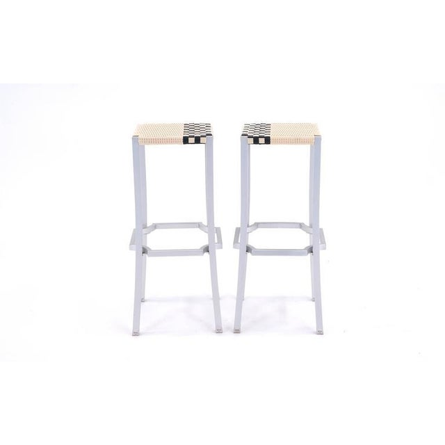 Pair of never used One Cafe bar stools designed by Philippe Starck in 2006 for Driade, Italy. The stool structure is...