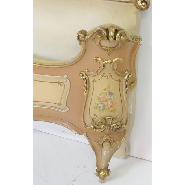 Venetian Style Paint Decorated Headboard For Sale - Image 4 of 8