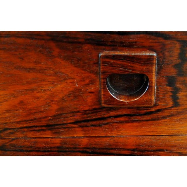 Danish Brazilian Rosewood 4 Drawer Nightstands- A Pair For Sale - Image 10 of 10