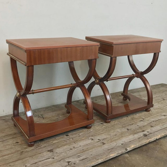 Pair Mid-Century French Charles X Side Tables For Sale - Image 12 of 13