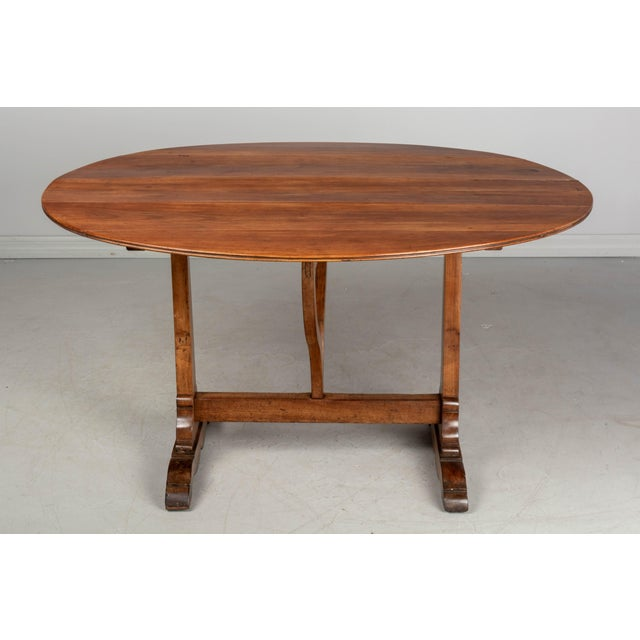 Wood French Oval Wine Tasting or Tilt-Top Table For Sale - Image 7 of 12
