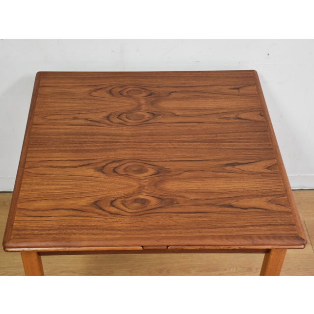 Mid-Century Danish Teak Draw Leaf Dining Table For Sale - Image 7 of 11