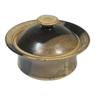 Mid Century Modern Lidded Earthenware Pottery For Sale