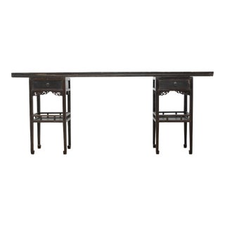 Sarreid LTD Antique Ming Style Console Table For Sale