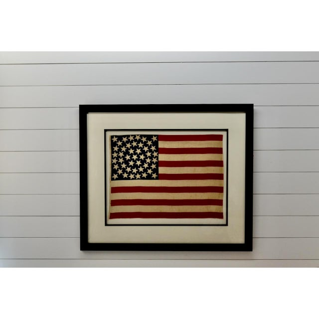American Antique 45 Star American Flag W/ Star Pattern For Sale - Image 3 of 5