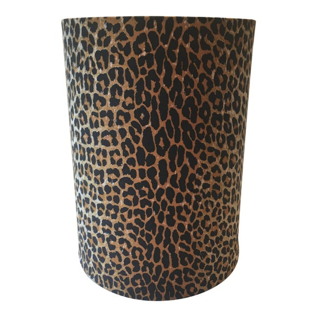 Leopard Fabric Lamp Shade - Image 1 of 7