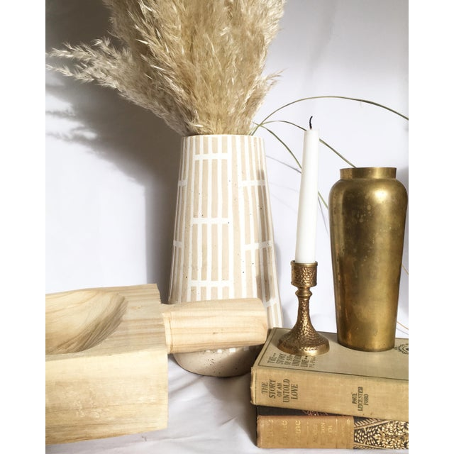 Late 20th Century Vintage Brass Candlestick For Sale - Image 5 of 6