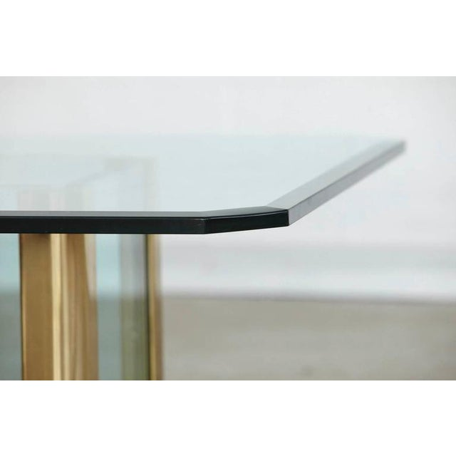 Brass Coffee Table with an Octagonal Beveled Glass Top by Leon Rosen for Pace - Image 7 of 9