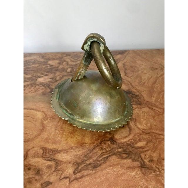 1920's Solid Brass Door Knocker For Sale - Image 4 of 7