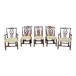 Kindel Chippendale Mahogany Dining Room Chairs - Set of 8 For Sale