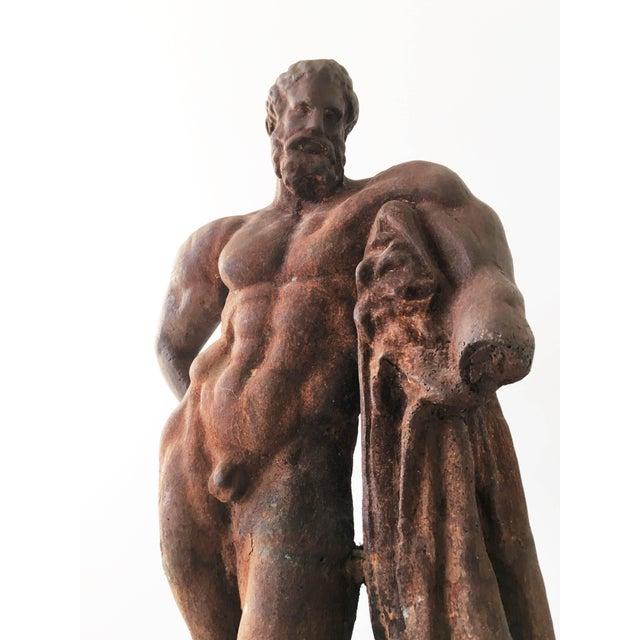 Mid-Century Modern Italian Serpentine Figure of the Farnese Hercules For Sale - Image 3 of 10