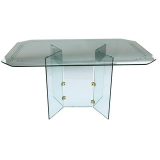 Pace Collection-Style Glass Dining Table