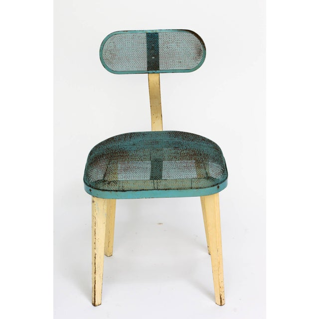 Metal Mesh Chair in the Manner of Jean Prouve For Sale - Image 9 of 11
