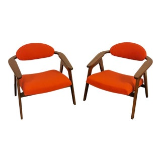 Adrian Pearsall Captain Chairs- Pair For Sale