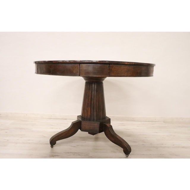 Early 19th Century 19th Century Empire Walnut Round Centre Table For Sale - Image 5 of 12
