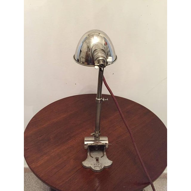 1920s Art Deco Clamping Lamp by HALA - Hannoversche Lampenfabrik, 1920s For Sale - Image 5 of 9