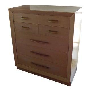 Mid-Century Modern John Stuart Pickled Walnut Dresser For Sale