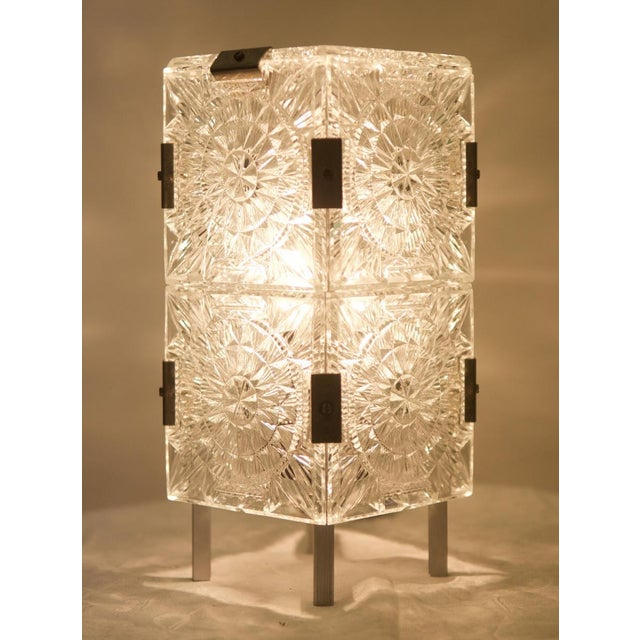 1960s Mid Century Pressed Table Lamp For Sale - Image 5 of 9