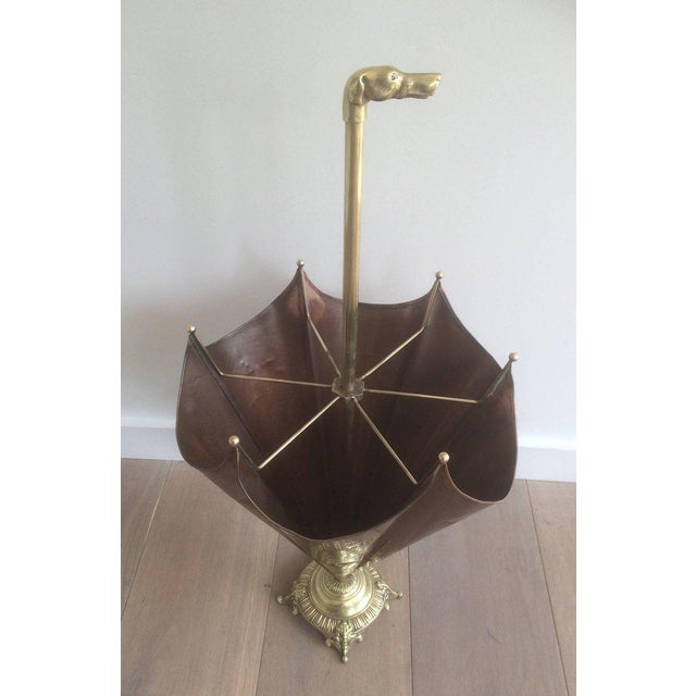 1940s, French Brass Umbrella Stand - Image 7 of 11