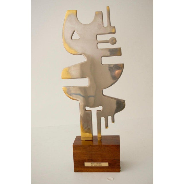 """1960s Mid-Century Modern 1960s """"Totem Symbol"""" Sculpture by Guido Brink For Sale - Image 5 of 6"""
