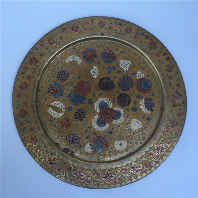 Vintage Indian Gold Plate For Sale - Image 4 of 10
