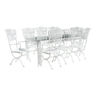 1950s Woodard Andalusian Patio Dining Set - 9 Pieces For Sale