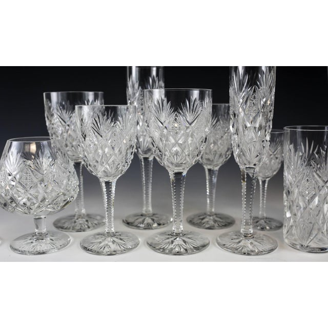 Stemware Service for 12 in Florence Pattern by Saint Louis - Set of 108 - Image 7 of 7