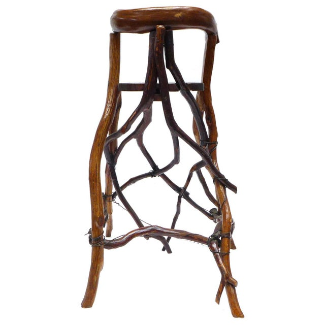 1940s Primitive Twig High Chair For Sale - Image 5 of 9
