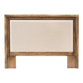 Sarreid Headboard Frame, Driftwood, Linen Flax For Sale
