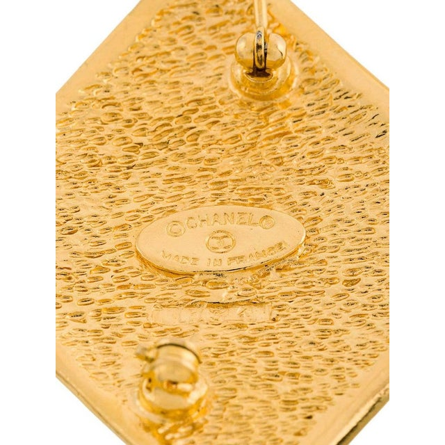 Chanel Chanel Gold Diamond Charm Evening Statement Pin Brooch in Box For Sale - Image 4 of 5